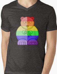 Love U Tees Funny Rainbow Animals Polar Bear LGBT Pride Week Swag, Unique Rainbow Gifts Mens V-Neck T-Shirt