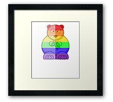 Love U Tees Funny Rainbow Animals Polar Bear LGBT Pride Week Swag, Unique Rainbow Gifts Framed Print