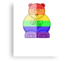 Love U Tees Funny Rainbow Animals Polar Bear LGBT Pride Week Swag, Unique Rainbow Gifts Canvas Print
