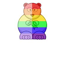 Love U Tees Funny Rainbow Animals Polar Bear LGBT Pride Week Swag, Unique Rainbow Gifts Photographic Print