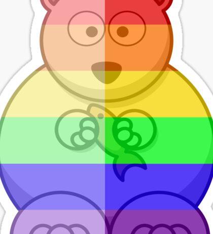 Love U Tees Funny Rainbow Animals Polar Bear LGBT Pride Week Swag, Unique Rainbow Gifts Sticker