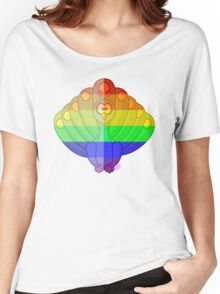 Love U Tees Funny Rainbow Animals Peacock, bird LGBT Pride Week Swag, Unique Rainbow Gifts Women's Relaxed Fit T-Shirt