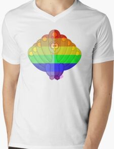 Love U Tees Funny Rainbow Animals Peacock, bird LGBT Pride Week Swag, Unique Rainbow Gifts Mens V-Neck T-Shirt