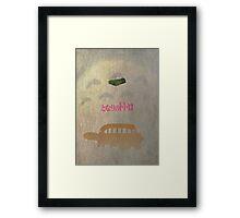 Ghibli Minimalist 'My Neighbour Totoro' Framed Print