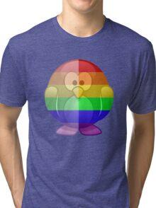 Love U Tees Funny Rainbow Animals Penguin LGBT Pride Week Swag, Unique Rainbow Gifts Tri-blend T-Shirt