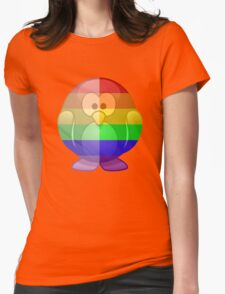 Love U Tees Funny Rainbow Animals Penguin LGBT Pride Week Swag, Unique Rainbow Gifts Womens Fitted T-Shirt