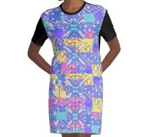 Stylized Bandana Graphic T-Shirt Dress