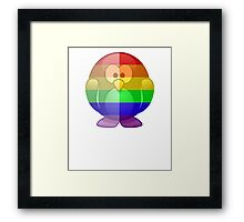 Love U Tees Funny Rainbow Animals Penguin LGBT Pride Week Swag, Unique Rainbow Gifts Framed Print