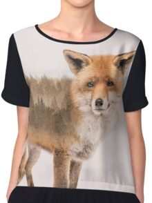 Fox Double Exposure Chiffon Top