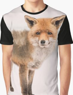Fox Double Exposure Graphic T-Shirt