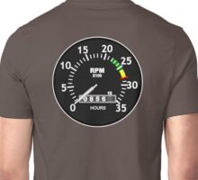 TACHOMETER, RPM, SPEED, RACE, MOTORSPORT, RACING, SPEEDOMETER, REV COUNTER Unisex T-Shirt