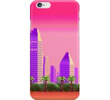 Beach and City Pixel Art (Aesthetic) iPhone Case/Skin