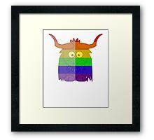 Love U Tees Funny Rainbow Animals Yak LGBT Pride Week Swag, Unique Rainbow Gifts Framed Print