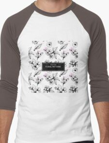 flowers Men's Baseball ¾ T-Shirt