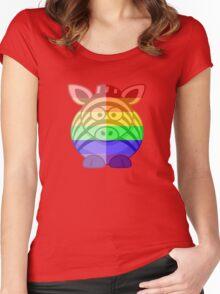 Love U Tees Funny Rainbow Animals Zebra LGBT Pride Week Swag, Unique Rainbow Gifts Women's Fitted Scoop T-Shirt