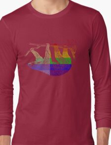 Love U Tees Funny Rainbow Animals Sloth LGBT Pride Week Swag, Unique Rainbow Gifts Long Sleeve T-Shirt