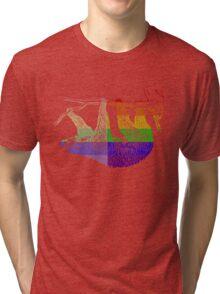 Love U Tees Funny Rainbow Animals Sloth LGBT Pride Week Swag, Unique Rainbow Gifts Tri-blend T-Shirt