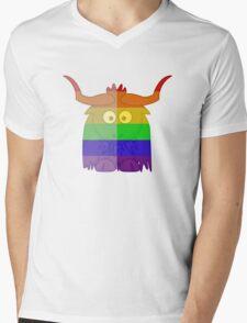 Love U Tees Funny Rainbow Animals Yak LGBT Pride Week Swag, Unique Rainbow Gifts Mens V-Neck T-Shirt