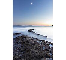 Rock & Fog Photographic Print