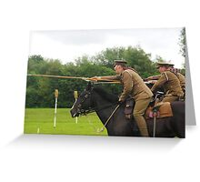 Charge of the 16th Lancers Greeting Card