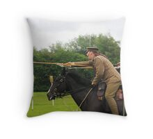 Charge of the 16th Lancers Throw Pillow