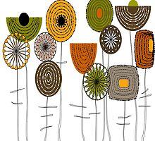 Artsy Autumn Blooms by Gail Gabel, LLC