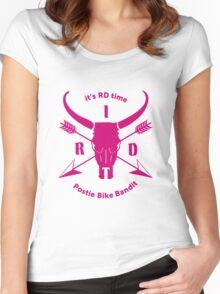 ItsRDtime Pink logo Women's Fitted Scoop T-Shirt