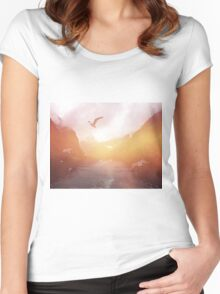 Landscape 04 Women's Fitted Scoop T-Shirt