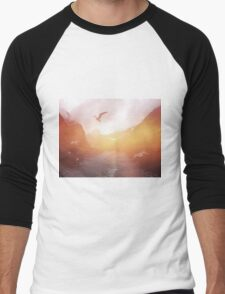 Landscape 04 Men's Baseball ¾ T-Shirt
