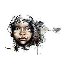 Watercolour portrait Photographic Print