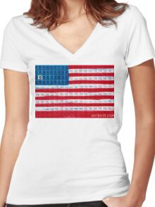 """""""King of Amerika"""" by Dave Hay • haydave.com Women's Fitted V-Neck T-Shirt"""