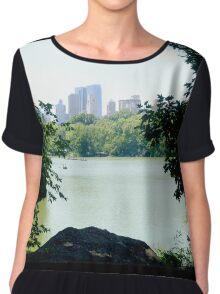 Central Park Lake Summer 2015 Chiffon Top