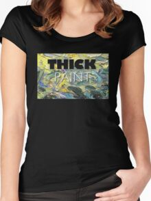 Thick Paint T-shirt and Hardcover Journal Women's Fitted Scoop T-Shirt
