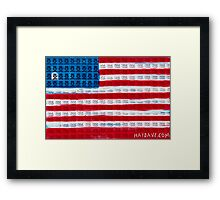 King of Amerika by Dave Hay - smaller version Framed Print