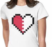 Pixel Heart Broken Womens Fitted T-Shirt