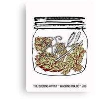 Sour Diesel in Small Mason Jar Canvas Print