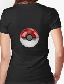 Poke Ball Pokemon Womens Fitted T-Shirt