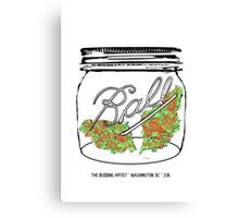 Red Racer #5 in Small Mason Jar Canvas Print
