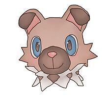 Cute Iwanko / Rockruff Pokemon Photographic Print