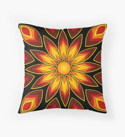 Flower Fire! Throw Pillow