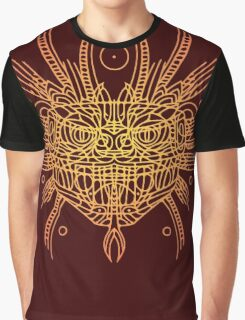 Facing Quetzalcoatl, the feathered snake on orange Graphic T-Shirt