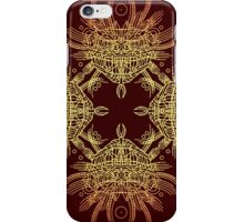 Facing Quetzalcoatl, the feathered snake on orange iPhone Case/Skin