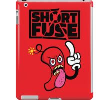 Short fuse angry red dynamite iPad Case/Skin