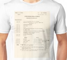 1950s TV Schedule from ABC Unisex T-Shirt