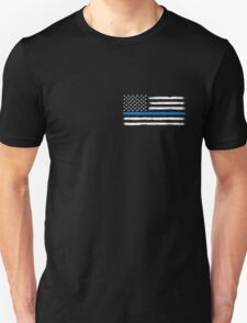 Blue Line - Traditional (White) SMALL Unisex T-Shirt