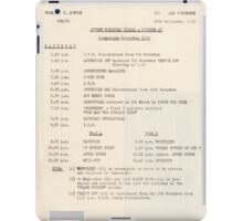 1950s TV Schedule from ABC iPad Case/Skin