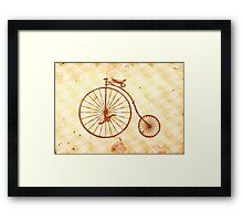 Old fashioned bicycle Framed Print
