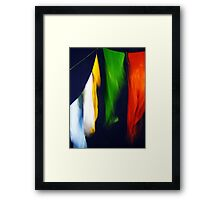 Flags Down Framed Print