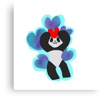 Chibi Heart Panda Canvas Print