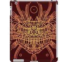 Facing Quetzalcoatl, the feathered snake on orange iPad Case/Skin